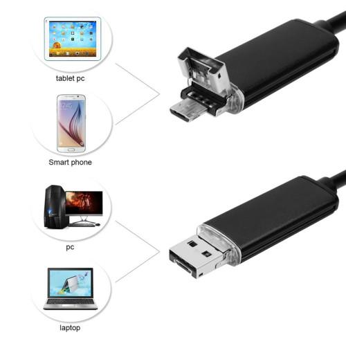 Эндоскоп JYC USB 2в1 HD1200*960 5м жесткий кабель водонепроницаемый Новинка