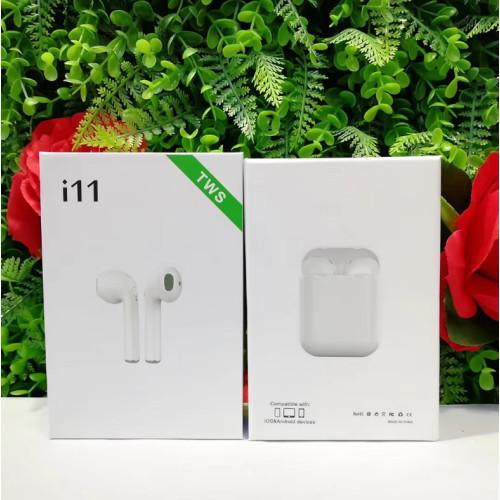 Наушники беспроводные TWS i11 Bluetooth влагоустойчивые с микрофоном