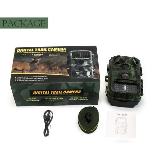 Фотоловушка Hunting HH-632 HD16MP Lenz90 PIR120 IRLED42 IP56 монитор рус
