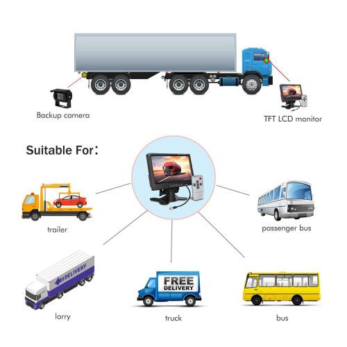 Камерадля грузовых автомобилей заднего видаCaravan 24v 170гр. IR15m. IP68  7