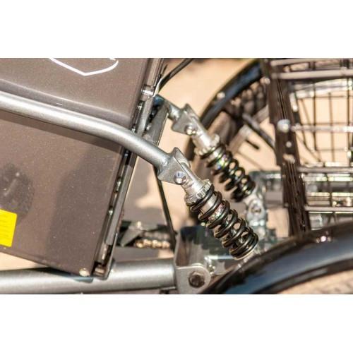Электровелосипед трехколесный грузовой Vega HAPPY 2021 (трицикл) + реверс + Lithium 12Ahh Серый