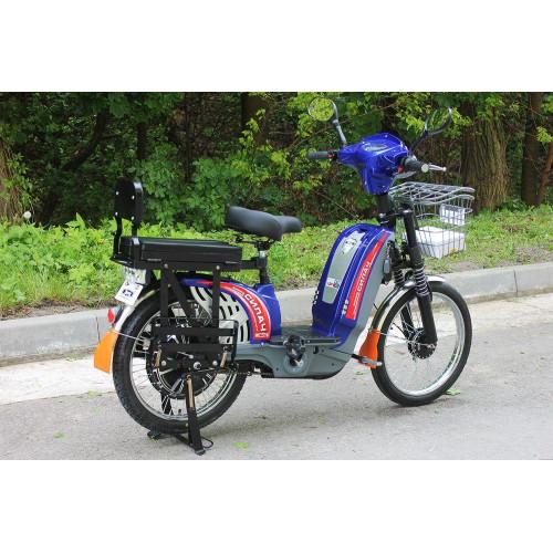 Электровелосипед грузовой Силач 450w/60v Синий