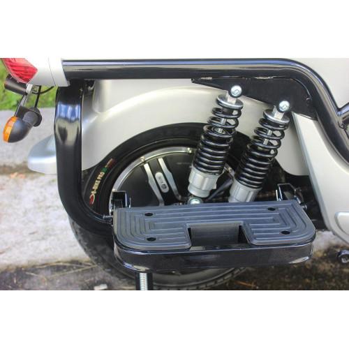 Электроскутер Tiger 1300w 60v/20Ah Серебристый
