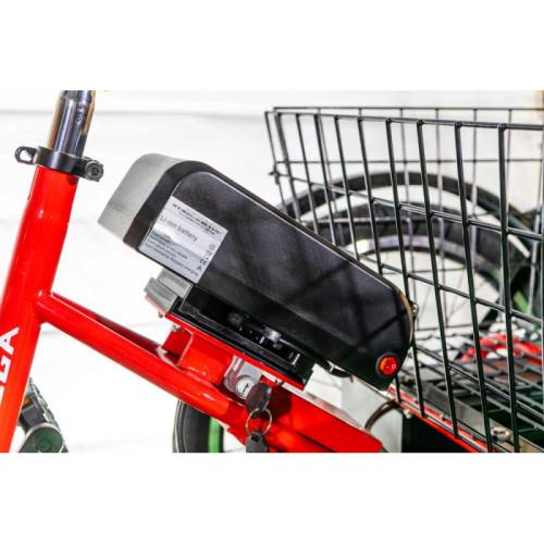Электровелосипед трехколесный 500/48 грузовой Vega BIG HAPPY 2021 Красный