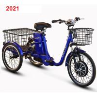 Электровелосипед трехколесный грузовой SkyBike 3-Cycle (трицикл) синий