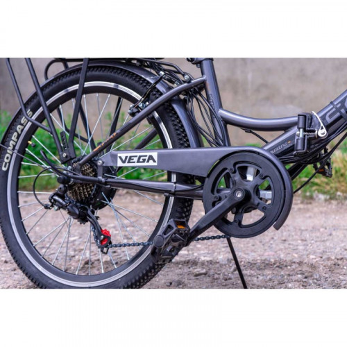 Электровелосипед Vega Joy S (Black) 350/10,4 Li-ion складной Grey